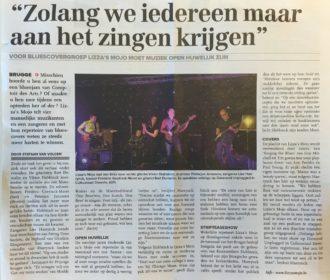 Eerste artikel in de krant.